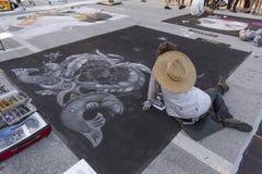 Valor del lago, la Florida, los E.E.U.U. 23-24 fabuloso, 25to festival anual de la pintura de la calle 2019 fotografía de archivo libre de regalías