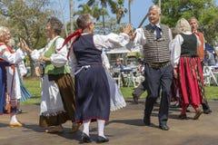 Valor del lago, la Florida, los E.E.U.U. festival de Sun de medianoche del 3 de marzo de 2019 que celebra la cultura finlandesa imágenes de archivo libres de regalías