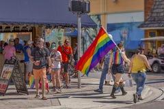 Valor do lago, Florida, EUA 31 de mar?o de 2019 antes, Palm Beach Pride Parade imagem de stock royalty free