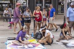 Valor do lago, Florida, EUA 23-24 fabuloso, 25o Fest anual da pintura da rua 2019 imagens de stock