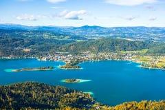 Valor do lago que olha da torre foto de stock royalty free