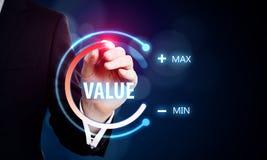 Valor e conceito da inova? imagem de stock