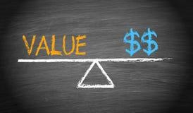 Valor e conceito do equilíbrio do dinheiro ilustração do vetor
