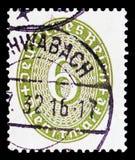 Valor 6 em um oval, serie de Straw Hat Pattern, cerca de 1932 fotos de stock