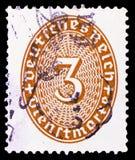 Valor 3 em um oval, serie de Straw Hat Pattern, cerca de 1927 foto de stock