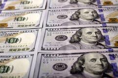 Valor nominal de muchas denominaciones de $ 100 Foto de archivo