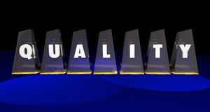 Valor superior de la calidad el mejor concede palabra de las letras Fotos de archivo
