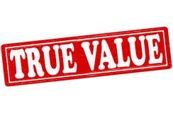 Valor verdadero stock de ilustración