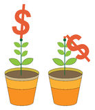 Valore dei soldi illustrazione di stock