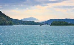 Valore del lago, Carinzia. L'Austria Fotografia Stock