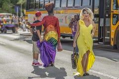 Valore del lago, Florida, U.S.A. 31 marzo 2019 prima, Palm Beach Pride Parade immagine stock libera da diritti