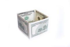 Valore nominale delle due banconote cento dollari Immagini Stock Libere da Diritti
