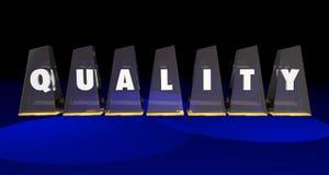 Valore superiore di qualità il migliore assegna la parola delle lettere Fotografie Stock