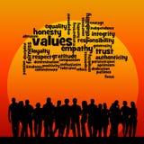Valores da sociedade Foto de Stock Royalty Free