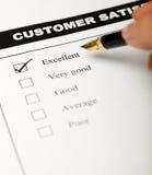 Valores de asunto - clientes satisfechos Imagen de archivo