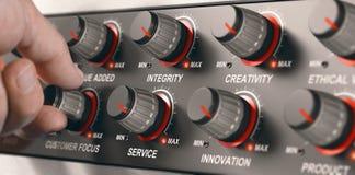 Valores de Codre del negocio, servicio de alta calidad ilustración del vector