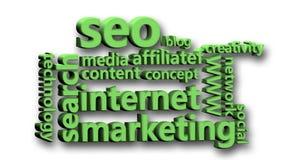 Valores de la animación relacionados con el márketing de Internet libre illustration