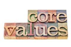 Valores de la base en el tipo de madera Fotos de archivo