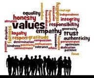 Valores de la gente Imagen de archivo