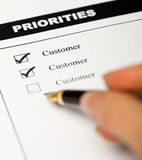 Valores de negócio - orientado ao cliente Fotos de Stock Royalty Free