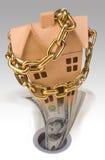 Valores dos bens imóveis de queda Imagem de Stock Royalty Free