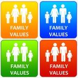 Valores familiares Imagenes de archivo