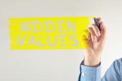Valores ocultados Fotografía de archivo libre de regalías