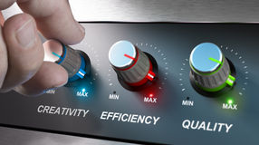 Valori, creatività, efficienza e qualità della società illustrazione di stock