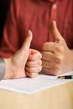 Valori di affari - beneficio reciproco Fotografia Stock Libera da Diritti