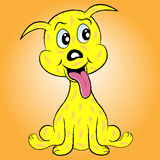 valp för tecknad filmteckenhund Fotografering för Bildbyråer