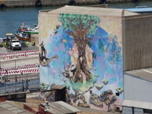ValparaÃso - grafito Imagenes de archivo