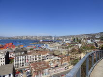 ValparaÃso, o Chile - paisagem - cidade Fotografia de Stock Royalty Free