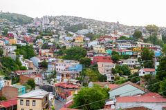 Valparaiso Aerial View Royalty Free Stock Photography