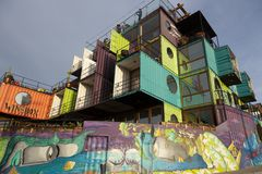 Free Valparaiso, Chile - 2019-07-30 - Wine Box Hotel Is Built Entirely From Repurposed Shipping Containers Stock Image - 161419381