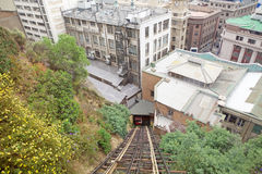 Valparaiso, Chile. Conception funicular railways in Valparaiso, Chile. Valparaiso was declared a World Heritage Site by UNESCO in 2003 royalty free stock image