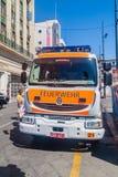 VALPARAISO CHILE, MARZEC, - 29, 2015: Pojazd Niemiecki oddział Valparaiso strażacy Ten pojazd opisuje obok fotografia royalty free