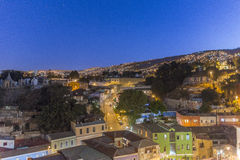 Valparaiso, Chile at night Stock Images