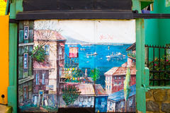 Valparaiso, Chile Street Art Stock Photo