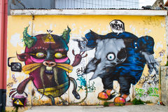 Valparaiso, Chile - Street Art Stock Images