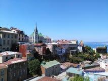 VALPARAISO, CHILI, 16 DECEMBER 2016: mening aan oud deel van CIT Royalty-vrije Stock Foto's