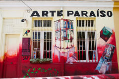 Valparaiso, Cile - Art Shop fotografia stock