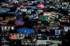 VALPARAISO COLORFUL CITY IN CHILE royalty free stock photos