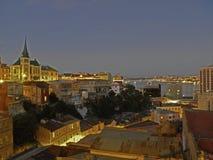 Valparaiso in de avond royalty-vrije stock fotografie