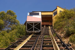 Valparaiso Funicular Stock Photo