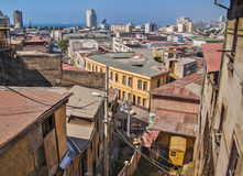 Valparaiso general view with funicular Stock Image