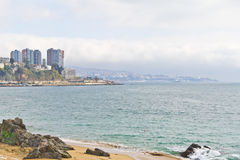 Valparaiso genommen von Vina del Mar Stockfotos
