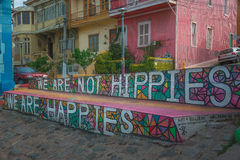 Valparaiso Graffiti and Street Art royalty free stock images
