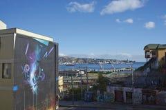 Valparaiso ha osservato dal barone Fotografie Stock Libere da Diritti