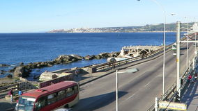 Valparaiso. Highway in Viña del Mar,  Valparaiso, Chile stock video