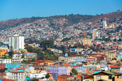 Valparaiso Hills. Colorful buildings on the hills of the UNESCO World Heritage city of Valparaiso, Chile Royalty Free Stock Photos